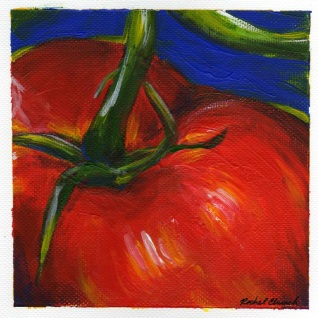 Madison Tomato, acrylic on paper, 2010