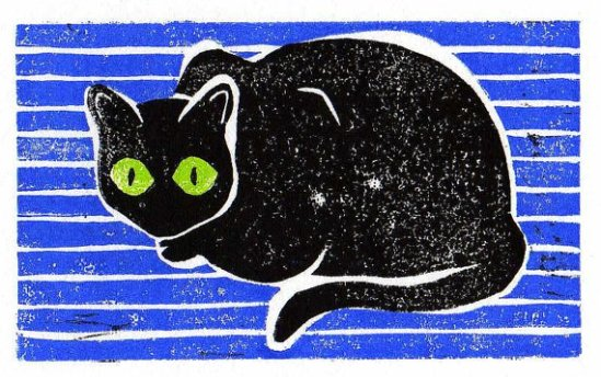 """what?"", linoleum block print, 2012"