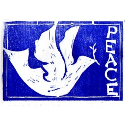 peace, woodblock print, 2007