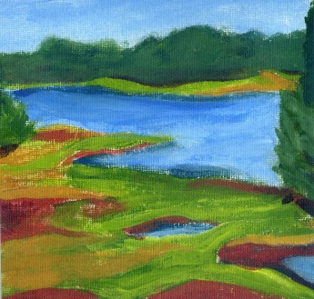 View from the Little House, acrylic on canvas, 2011