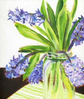 Hyacinth, acrylic on canvas, 2011